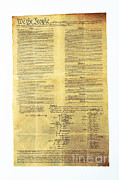 Patriotism Prints - U.s Constitution Print by Photo Researchers, Inc.