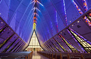 Benches Photos - USAF Academy Cadet Chapel by Bryan Mullennix