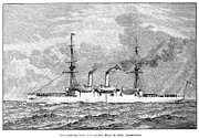 U.s. Steel Framed Prints - Uss Boston, 1890 Framed Print by Granger