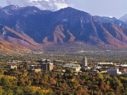 Salt Lake City Posters - Utah Campus Aerial Poster by University of Utah