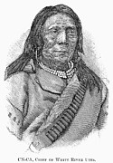 White River Photos - Ute Chief, 1879 by Granger