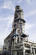 Distillation Framed Prints - Vacuum Pipestill At An Oil Refinery Framed Print by Paul Rapson
