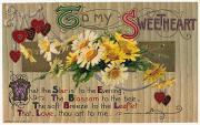 Card Of The Holiday Framed Prints - Valentines Day Card, 1910 Framed Print by Granger