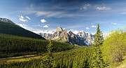 Alberta Rocky Mountains Posters - Valley of Ten Peaks Poster by Ginevre Smith