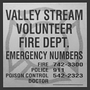Police Art Posters - VALLEY STREAM FIRE DEPARTMENT in BLACK AND WHITE Poster by Rob Hans