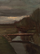 Spiritual Teacher Paintings - Van Gogh Ditch and Small Bridge by Vincent Van Gogh