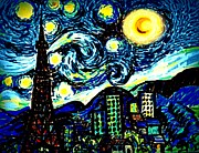 Van Pastels Prints - Van Gogh in Alternate Universe Print by Aisa  Mijeno