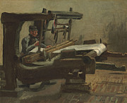 Education Paintings - Van Gogh Weaver Facing Right by Vincent Van Gogh