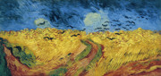 Auvers Sur Oise Prints - Van Gogh Wheatfield with Crows Print by Vincent van Gogh