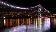 Lions Gate Bridge Prints - Vancouver British Columbia 5 Print by Bob Christopher
