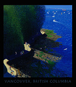 Stanley Park Digital Art Framed Prints - Vancouver North Seawall Poster  Framed Print by Neil Woodward