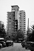 Ammochostos Prints - Varosha Forbidden Zone With Salaminia Tower Hotel Abandoned In 1974 Turkish Invasion Famagusta Print by Joe Fox