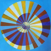 Op Art Paintings - Vasarelys Spiral by Sonja Gartner