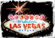 Letters Mixed Media - Vegas Baby by Russell Pierce