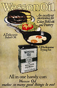 Salad Oil Prints - Vegetable Oil Ad, 1918 Print by Granger