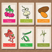 Vegetables Print by HD Connelly