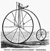 Penny Farthing Photos - Velocipede, 1869 by Granger