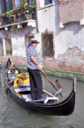Gondolier Originals - Venetian gondolier by LS Photography