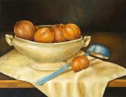 Vegetables Paintings - Venetian Table by Pamela Allegretto