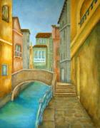 Architecture Painting Posters - Venezia Poster by Pamela Allegretto