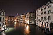 Venice By Night Print by Joana Kruse