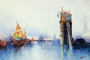 Sailboat Paintings - Venice by Thomas Moran