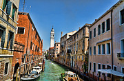 Venice Waterway Posters - Venice Waterway Poster by Jon Berghoff