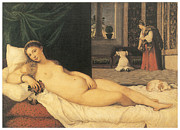 Titian Framed Prints - Venus of Urbino Framed Print by Titian