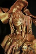 Portrait Sculpture Posters - Veronica Poster by Afrodita Ellerman