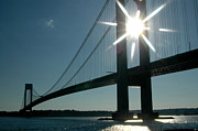 Staten Island Photos - Verrazano Bridge Starburst by Mark Gilman