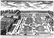 Trianon Framed Prints - Versailles: Garden, 1685 Framed Print by Granger