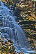 Pa State Parks Photos - Vertical Cascade by Adam Jewell