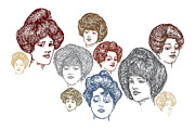 Likeness Drawings Prints - Very Pretty Lady Faces Print by Karl Addison