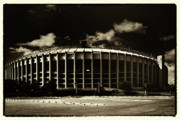 Sports Tapestries Textiles Originals - Veterans Stadium by Jack Paolini