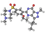 Molecular Structure Art - Viagra Drug Molecule by Laguna Design