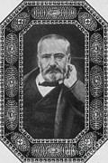 Victor Hugo Framed Prints - Victor Hugo, French Author Framed Print by Photo Researchers