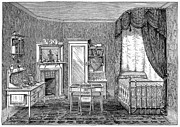 Heal Framed Prints - Victorian Bedroom, 1884 Framed Print by Granger