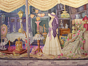 Antiques Paintings - Victorian Tapestry by Barbara McCorkindale