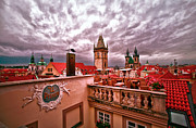 Rooftop Prints - View from the Top in Prague Print by Madeline Ellis