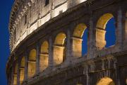 Urban Scenes Photos - View Of The Roman Coliseum In Rome by Axiom Photographic