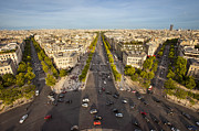 Elysees Posters - View over Champs Elysees Poster by Brian Jannsen