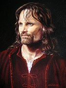 Bridegroom Posters - Viggo Mortensen as Aragorn Poster by Yulia Litvinova