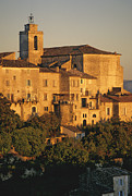 Churches Photo Framed Prints - Village de Gordes. Vaucluse. France. Europe Framed Print by Bernard Jaubert