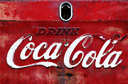 Signs Mixed Media Prints - Vintage Coca Cola Sign Print by Anahi DeCanio