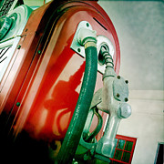 Gallons Posters - Vintage Gas Pump Poster by Lori Knisely