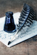 Write Prints - Vintage Letter and Quill Pen Print by Jill Battaglia