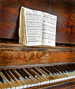 Disrepair Prints - Vintage Piano Print by Jill Battaglia
