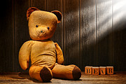 Filtered Light Prints - Vintage Teddy Bear Print by Olivier Le Queinec