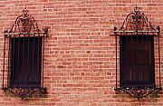 Anna Villarreal Garbis Prints - Vintage Window Grates 3 Print by Anna Villarreal Garbis