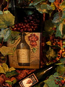 Grape Leaves Photos - Vintage Wine Look by Deniece Platt